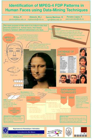 Identification of MPEG-4 FDP Patterns in Human Faces using Data-Mining Techniques