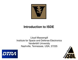Introduction to ISDE
