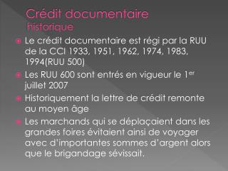 Cr�dit documentaire