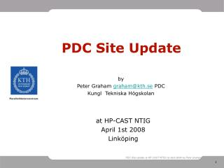PDC Site Update