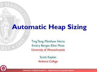 Automatic Heap Sizing