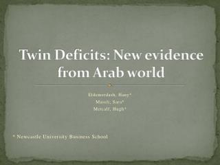 Twin Deficits: New evidence from Arab world