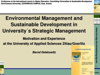 Environmental Management and Sustainable Development in University´s Strategic Management