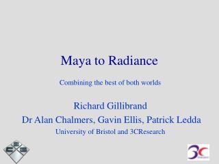Maya to Radiance