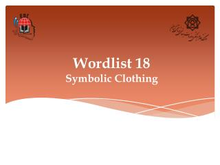 Wordlist 18 Symbolic Clothing