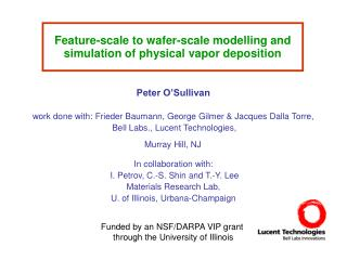 Feature-scale to wafer-scale modelling and simulation of physical vapor deposition