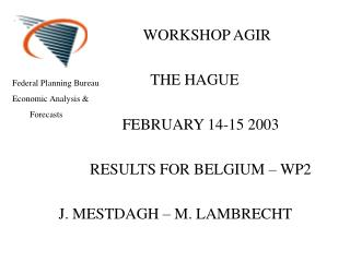 WORKSHOP AGIR            THE HAGUE               FEBRUARY 14-15 2003