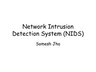 Network Intrusion Detection System (NIDS)