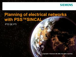 Planning of electrical networks with PSS�SINCAL