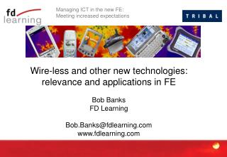 Managing ICT in the new FE:  Meeting increased expectations