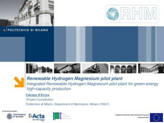 Renewable Hydrogen Magnesium pilot plant