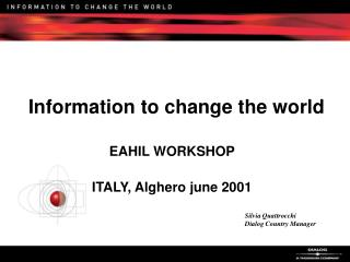 Information to change the world