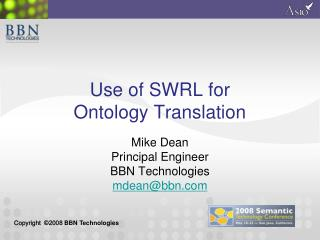 Use of SWRL for  Ontology Translation