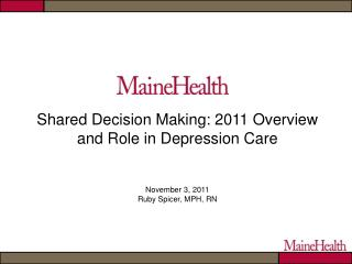 Shared Decision Making Defined