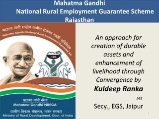 Mahatma Gandhi         National Rural Employment Guarantee Scheme  Rajasthan