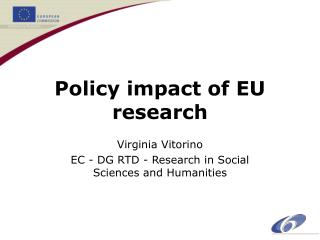 Policy impact of EU research