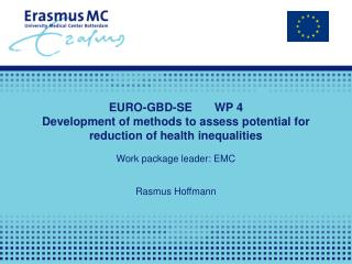EURO-GBD-SE	WP 4  Development of methods to assess potential for reduction of health inequalities