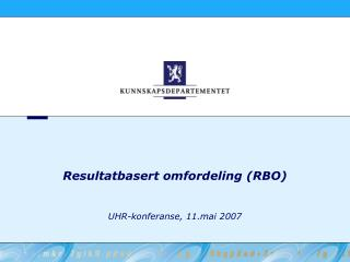 Resultatbasert omfordeling (RBO)