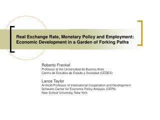 Roberto Frenkel Professor at the Universidad de Buenos Aires