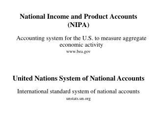 National Income and Product Accounts (NIPA)