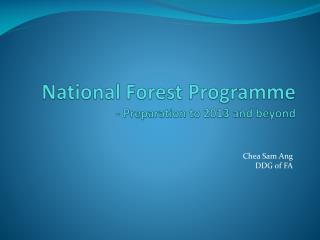 National Forest Programme  - Preparation to 2013 and beyond