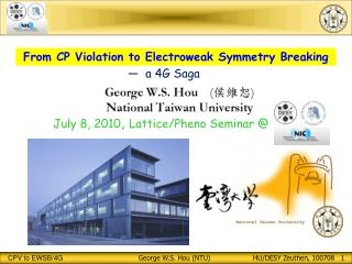 From CP Violation to Electroweak Symmetry Breaking