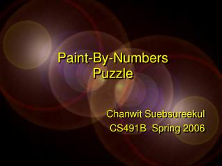 Paint-By-Numbers Puzzle