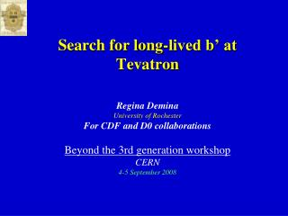 Search for long-lived b' at  Tevatron
