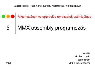 MMX assembly  programozás