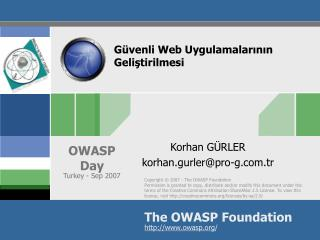 Güvenli Web Uygulamalarının Geliştirilmesi
