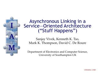 "Asynchronous Linking in a Service—Oriented Architecture (""Stuff Happens"")"