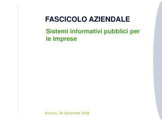 FASCICOLO AZIENDALE