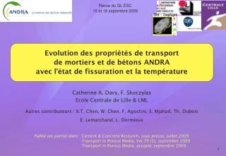 Revue du GL ESC 15 et 16 septembre 2009