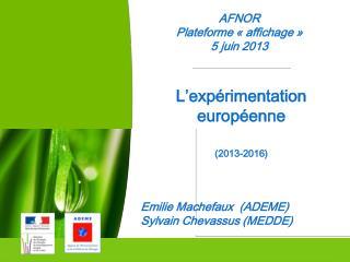 AFNOR Plateforme «affichage» 5 juin 2013