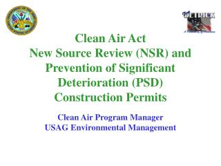 Clean Air Program Manager USAG Environmental Management