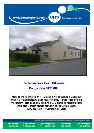 54 Tamnamore Road Killyman  Dungannon BT71 6RJ