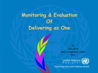 Monitoring & Evaluation  Of  Delivering as One