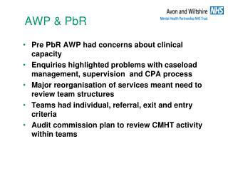 AWP & PbR