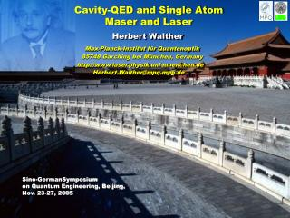 Cavity-QED and Single Atom  Maser and Laser