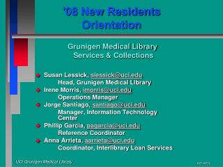 '08 New Residents Orientation