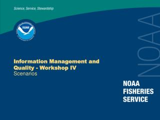 Information Management and Quality - Workshop IV