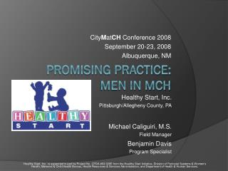 Promising Practice: Men in MCH