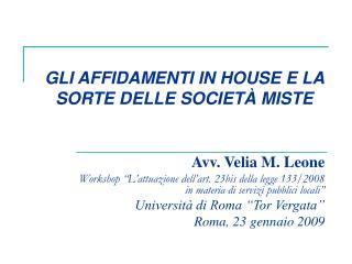 Avv. Velia M. Leone