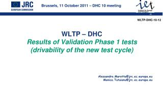 Brussels, 11 October 2011 – DHC 10 meeting