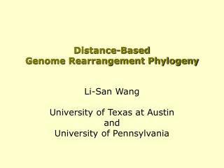Distance-Based  Genome Rearrangement Phylogeny