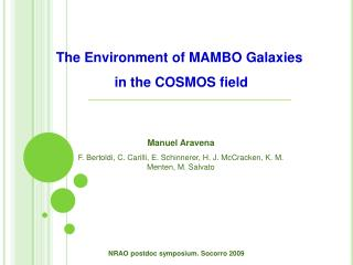 The Environment of MAMBO Galaxies  in the COSMOS field