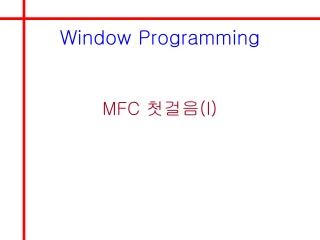 Window Programming