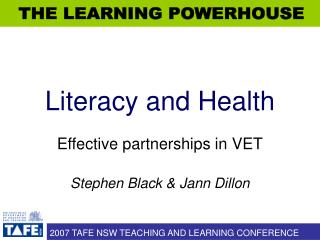 Literacy and Health