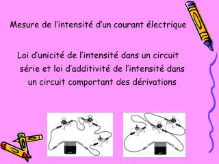 Mesure de l�intensit� d�un courant �lectrique