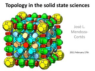 Topology in the solid state sciences